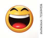 lol emoji isolated on white... | Shutterstock . vector #721634536