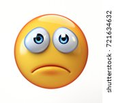sad emoji isolated on white... | Shutterstock . vector #721634632