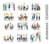 office workers collaboration... | Shutterstock . vector #721635322