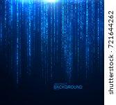 glittering falling sparkles.... | Shutterstock .eps vector #721644262