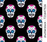 day of the dead colorful skull... | Shutterstock .eps vector #721647526