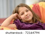cute little girl portrait | Shutterstock . vector #72164794