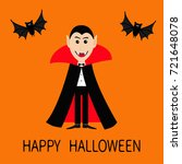count dracula wearing black and ... | Shutterstock .eps vector #721648078