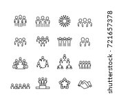 person and team icons set vector | Shutterstock .eps vector #721657378