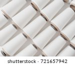 top view of a lot of yarn... | Shutterstock . vector #721657942
