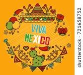 mexican elements | Shutterstock .eps vector #721658752