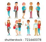 set of style young people  | Shutterstock .eps vector #721660378