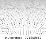 high tech technology abstract... | Shutterstock .eps vector #721660552