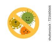 stop microbes cartoon vector... | Shutterstock .eps vector #721660666