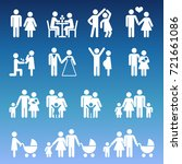 young family life pictograms  ... | Shutterstock .eps vector #721661086