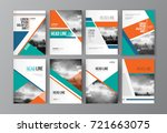 modern business brochure ... | Shutterstock .eps vector #721663075