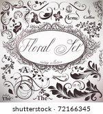vector set  calligraphic design ... | Shutterstock .eps vector #72166345