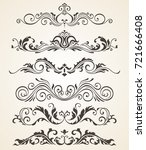 collection of vintage style... | Shutterstock . vector #721666408