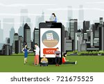 e voting concept illustration... | Shutterstock .eps vector #721675525