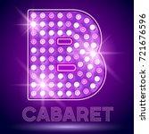 vector chic light up alphabet... | Shutterstock .eps vector #721676596