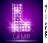 vector chic light up alphabet... | Shutterstock .eps vector #721676836