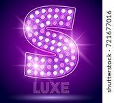 vector chic light up alphabet... | Shutterstock .eps vector #721677016