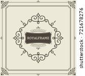 frame template. vintage... | Shutterstock . vector #721678276