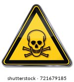danger and warning toxic... | Shutterstock . vector #721679185