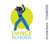 dance logo for dance school ... | Shutterstock .eps vector #721680202