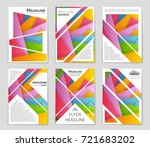 abstract vector layout... | Shutterstock .eps vector #721683202