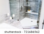 closeup of staging modern stone ... | Shutterstock . vector #721686562