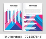 abstract vector layout... | Shutterstock .eps vector #721687846