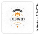halloween celebration vector... | Shutterstock .eps vector #721688746