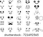 cartoon eyes in vector   Shutterstock .eps vector #721692565