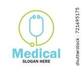 medical  pharmacy logo  emblem... | Shutterstock .eps vector #721695175