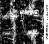 grunge black and white seamless ... | Shutterstock . vector #721696846