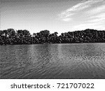 wide river with forest.... | Shutterstock . vector #721707022