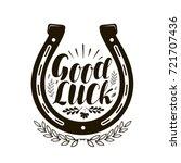horseshoe symbol or label. good ...
