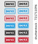 done rubber stamp set grunge   Shutterstock .eps vector #721711096