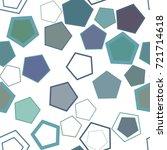 seamless geometric conceptual... | Shutterstock .eps vector #721714618