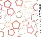 seamless artistic pentagon...   Shutterstock .eps vector #721714732