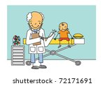 cheerful doctor examines a... | Shutterstock .eps vector #72171691