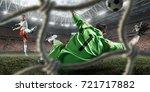 soccer players performs an... | Shutterstock . vector #721717882