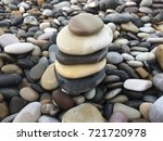 pebbles of the beach photo... | Shutterstock . vector #721720978