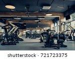 modern light gym. sports... | Shutterstock . vector #721723375