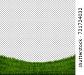 grass border isolated  vector... | Shutterstock .eps vector #721724032