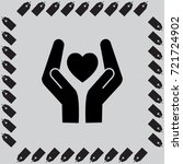 heart and hands vector icon | Shutterstock .eps vector #721724902