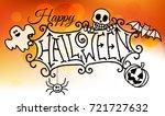 an orange cartoon happy... | Shutterstock .eps vector #721727632