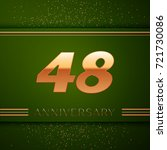 realistic forty eight years... | Shutterstock .eps vector #721730086