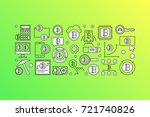 colorful cryptocurrency modern... | Shutterstock .eps vector #721740826