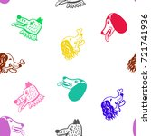 a seamless pattern with cute... | Shutterstock .eps vector #721741936
