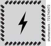 vector lightning icon | Shutterstock .eps vector #721743472