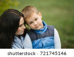 portrait of a young and pretty... | Shutterstock . vector #721745146