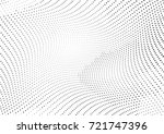 abstract halftone wave dotted... | Shutterstock .eps vector #721747396