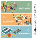 healthy food  diet and... | Shutterstock .eps vector #721748755